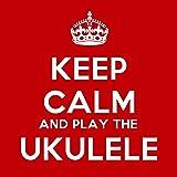 Keep Calm And Play The Ukulele Coaster - 9cm Square
