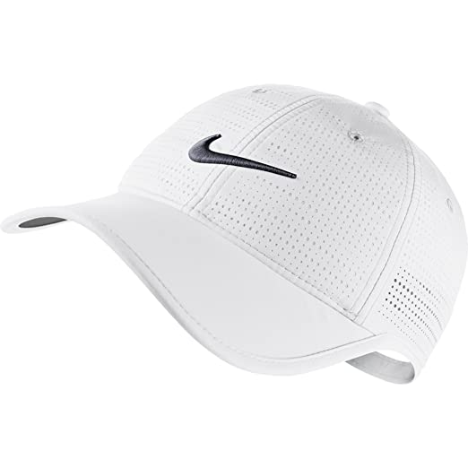 fe60be50009030 Nike Women's Perforated Golf Cap - Variety of Colors Available (White)