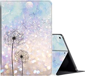 iPad 10.2 Case (2020/2019) 8th/7th Generation ipad Case,Amook Adjustable Non-Slip Folio Stand with Auto Wake/Sleep Smart Cover for New Apple iPad 8/7 Gen 10.2 inch -Dandelion Floral