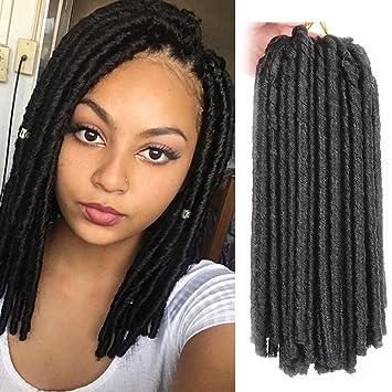 Soft Dread Lock Hair Twist Braids Crochet 14 Inch 30 Strands Synthetic Braiding Extensions