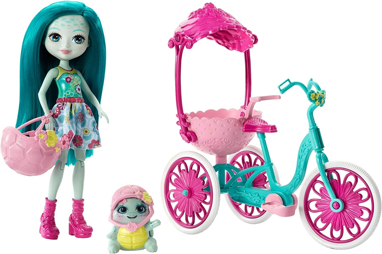 Enchantimals Bicicleta de Paseo, accesorios muñeca (Mattel FCC65)