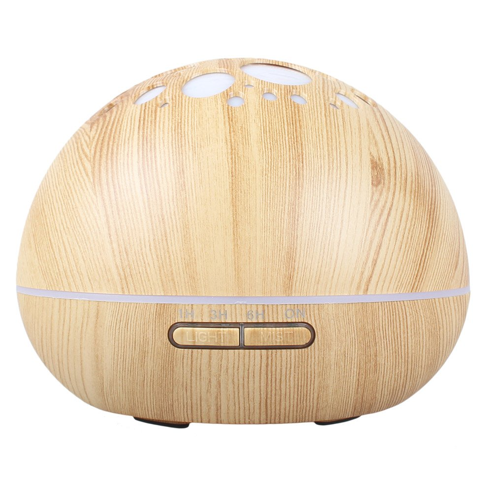 LianLe 300ml Cool Mist Humidifier 7 Colors Changing Ultrasonic Aroma Essential Oil Diffuser for Office Home Bedroom Living Room Study Yoga Spa