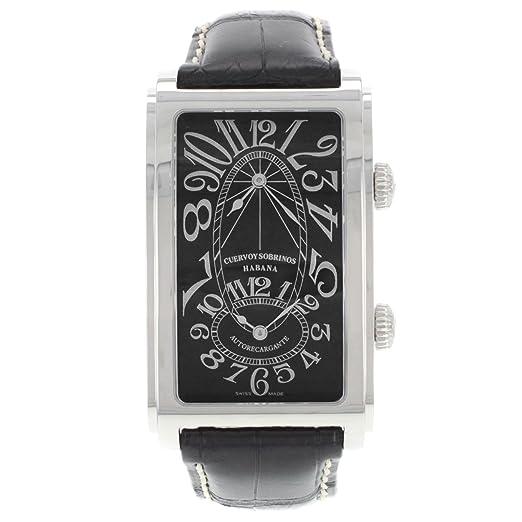 Cuervo Y Sobrinos A1112/2 - Reloj para hombres, correa de acero inoxidable color negro: Amazon.es: Relojes