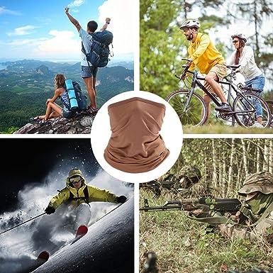 AIMICONG Multifunktionsschal Outdoor Sport Bandana Military Schal Rohr Angeln Radfahren Taktische Wandern Abdeckung Nackenschutz Biker Stirnband Schal Gesichtsschutz