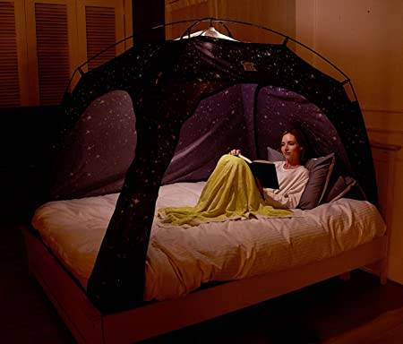 CAMP 365 Child's Indoor Privacy and Play Tent on Bed Sleep Cozy in Drafty Room (Medium, Starlight)