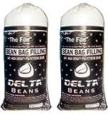 Delta Bean Bags Round Bean Bag Refill (Filler) 1 Kg Standard (White, DBB - 0123 - EPS - 1K)