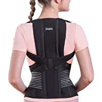 Omples Posture Corrector for Women and Men Back Brace Straightener Shoulder Upright Support Trainer for Body Correction…