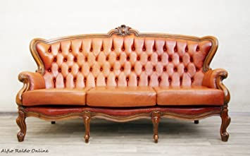 Chesterfield Antik Vintage Chippendale Sessel Leder Sofa Alt Amazon