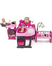 Smoby- Baby Nurse Centro Gioco per Bambole con Accessori, Colore Rosa, 7600220327