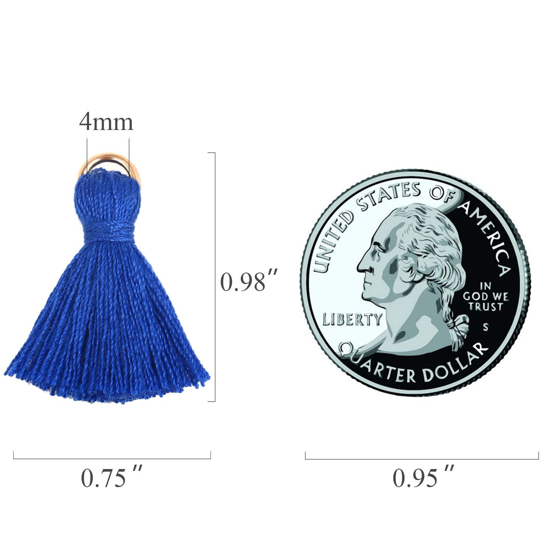 95-100PCS Wholesale Mini Tassel Charms Tiny Short Cotton Thread Tassels Bulk for Crafts and Jewelry Making