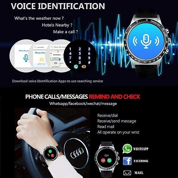 sanniya Reloj Inteligente Android Smartwatch Y3 con ...