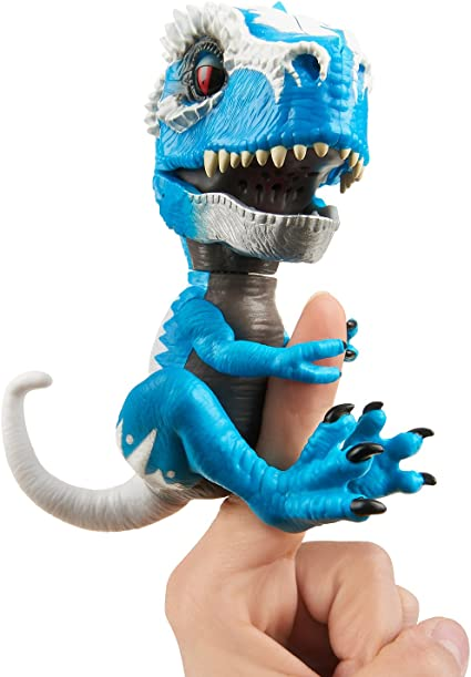 Amazon Com Untamed T Rex By Fingerlings Ironjaw Blue Interactive Collectible Dinosaur By Wowwee Toys Games Se mueven y hacen sonidos respondiendo a tus acciones. untamed t rex by fingerlings ironjaw blue interactive collectible dinosaur by wowwee