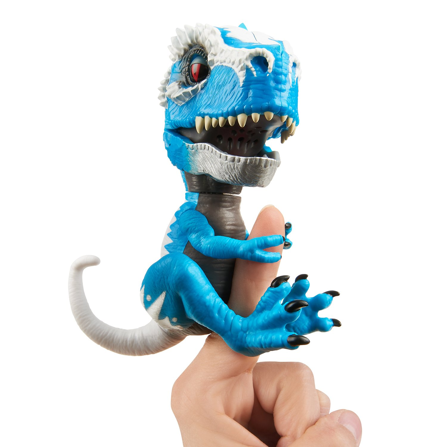 WowWee Untamed T-Rex by Fingerlings Ironjaw (Blue) -Interactive Collectible Dinosaur by WowWee (Image #1)
