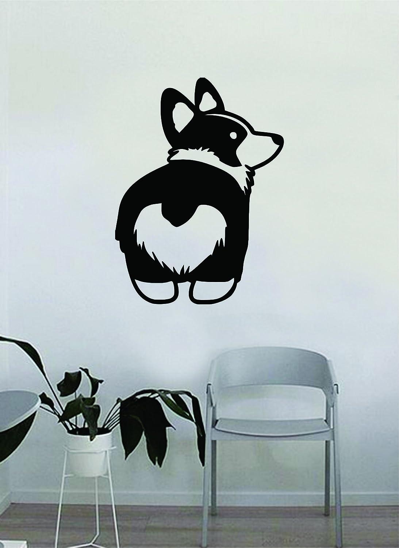 Corgi Butt Wall Decal Sticker Vinyl Art Bedroom Living Room Decor Decoration Teen Animal Cute Dog Puppy Heart Love Rescue Adopt