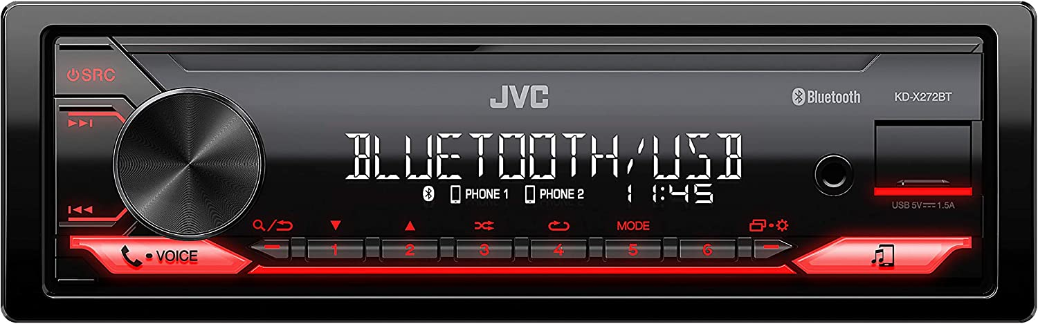 JVC KD-X272BT - Radio para Coche, Color Negro