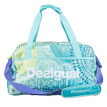 076224318 Desigual Mujer Bolso Big Gym Bag, Azul, 60X5SA3: Amazon.es: Deportes y aire  libre