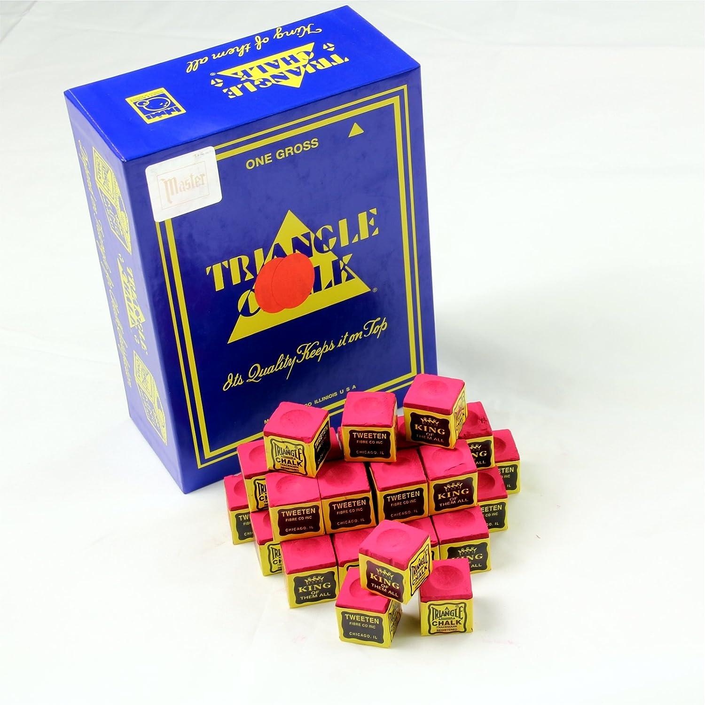 12 Pieces RED TRIANGLE Snooker & Pool Chalk - Worlds Most Popular Chalk! Tweeten