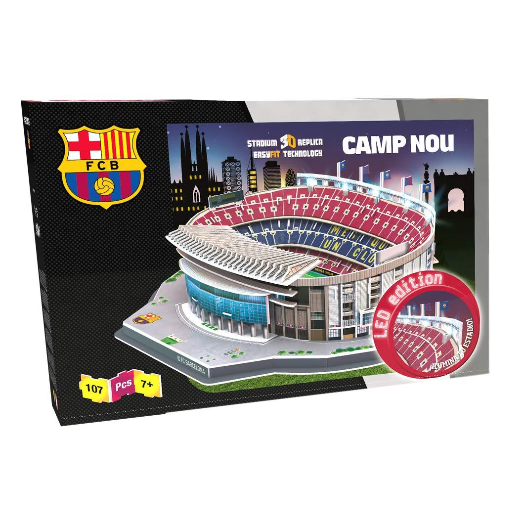 NANOSTAD 34402 - Estadio Camp Nou LED Edition (FC Barcelona) Puzzle 3D (Producto Oficial Licenciado). Recomendado para edades superiores a 7 años