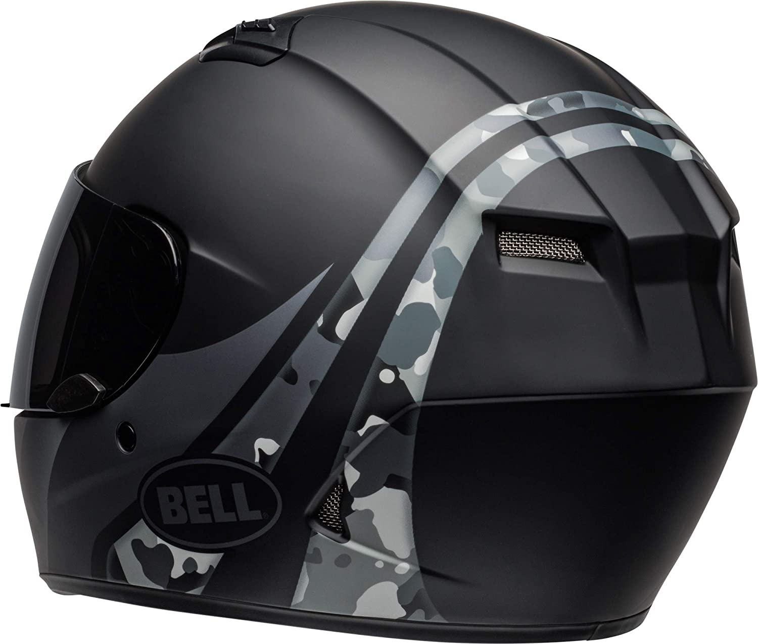 Bell Qualifier Integrity Motorcycle Helmet Matte Gray//Orange Camo MD