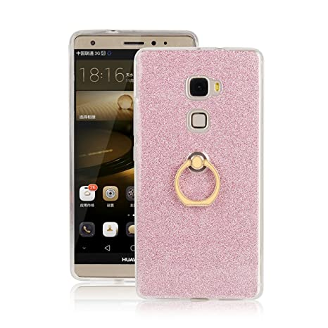 codice promozionale dab92 d4c90 Skitic Cover per Huawei Mate S, Lusso Glitter Bling 360 Degree Rotating  Metallo Anello Ring Stand Holder Custodia Morbido TPU Ultra Slim Bumper  Back ...