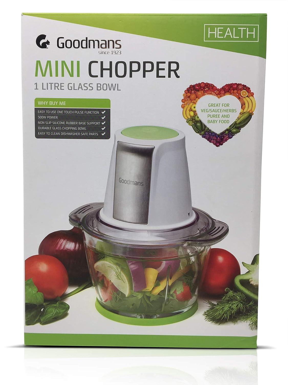 Goodmans Mini Chopper 1 Litre Glass Bowl-322169 Kitchen B0773R5RF3