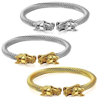 Men/'s Bracelets Punk Fashion Chinese Dragon Bracelet Stainless Steel Jewelry
