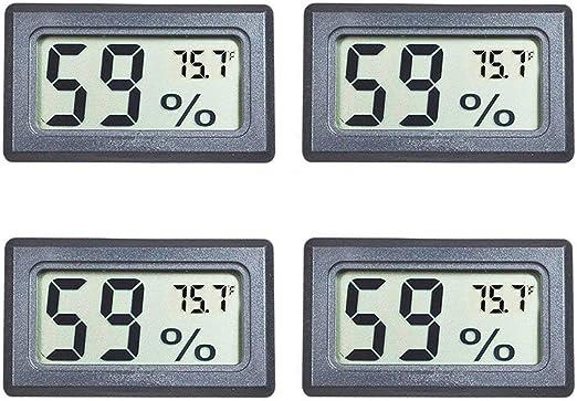 Digital Indoor LCD Hygrometer Humidity Temperature Thermometer Meter Clock Gauge