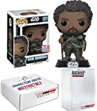 Funko Pop! NYCC Star Wars Saw Gerrera Rogue One, Limited Edition Fall Convention Exclusive, Concierge Collectors Bundle