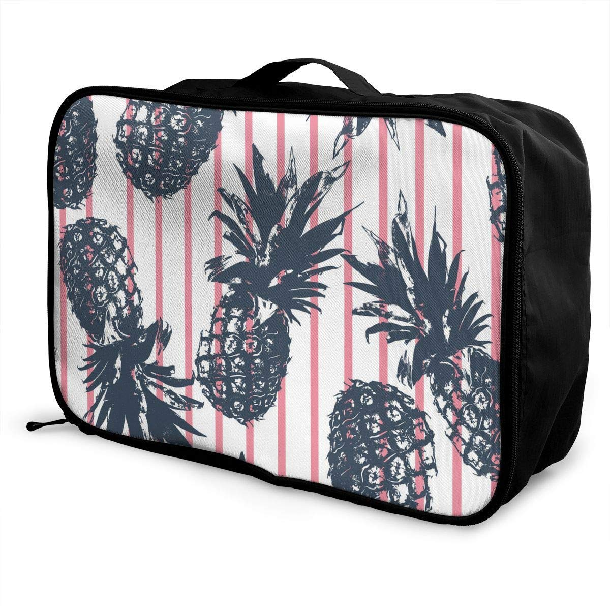 JTRVW Luggage Bags for Travel Tropical Plants Funny Pineapple Travel Duffel Bag Waterproof Fashion Lightweight Large Capacity Portable Duffel Bag for Men /& Women