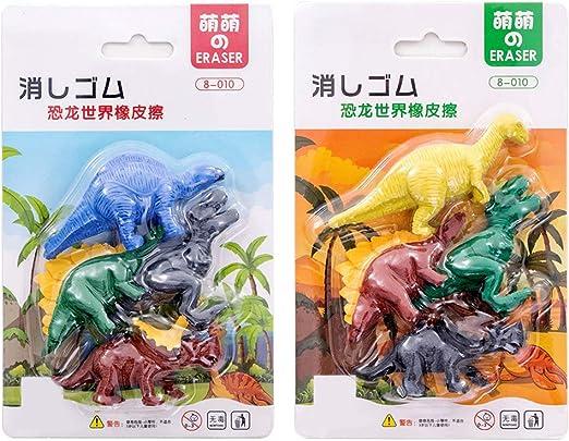richingCAI 4 unids / Pack Kawaii Borrador de Goma Dinosaurio de Dibujos Animados Creativo en Forma de Papelería Estudiante Niños Niños Regalo: Amazon.es: Juguetes y juegos