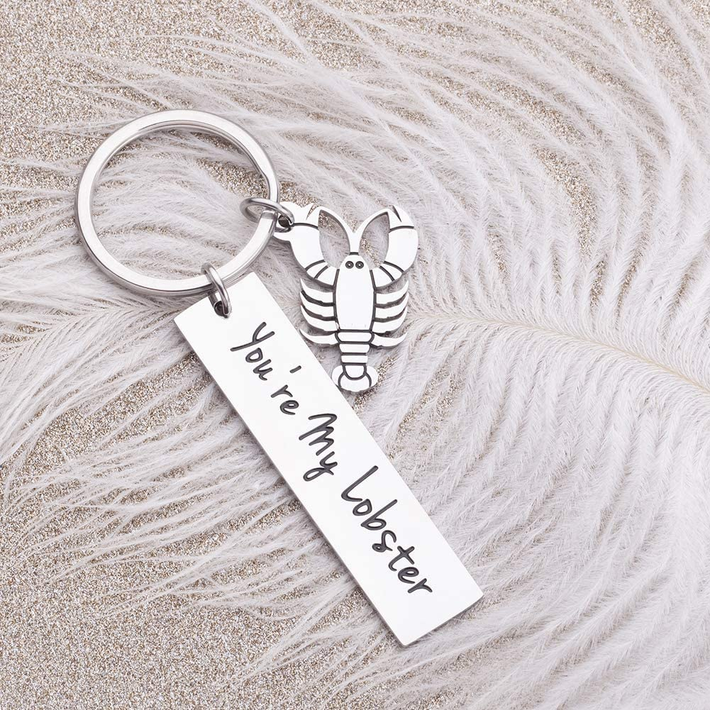 Couples Gifts Keychain for Boyfriend Girlfriend You/'re My Lobster Cool TV Props Friends Wedding Valentine/'s Anniversary Brithday Huaband Wife Romantic Keyring Jewelry for Him Her