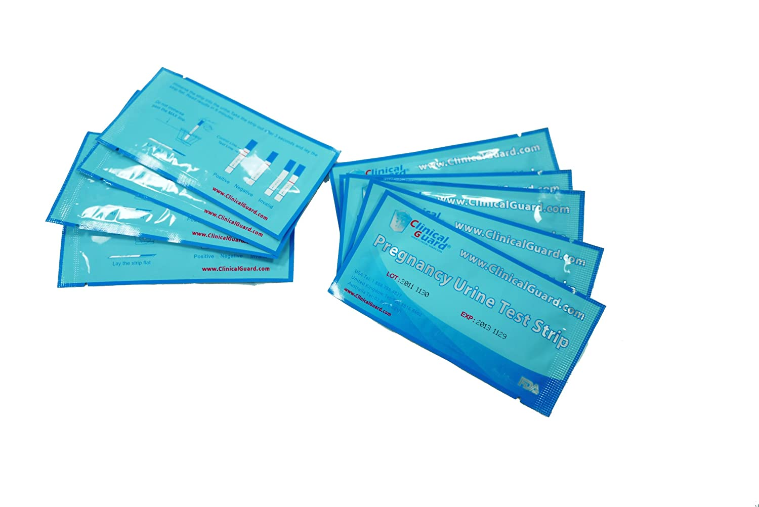 ClinicalGuard® HCG Pregnancy Test Strips (Individually-Sealed, Pack of 100)