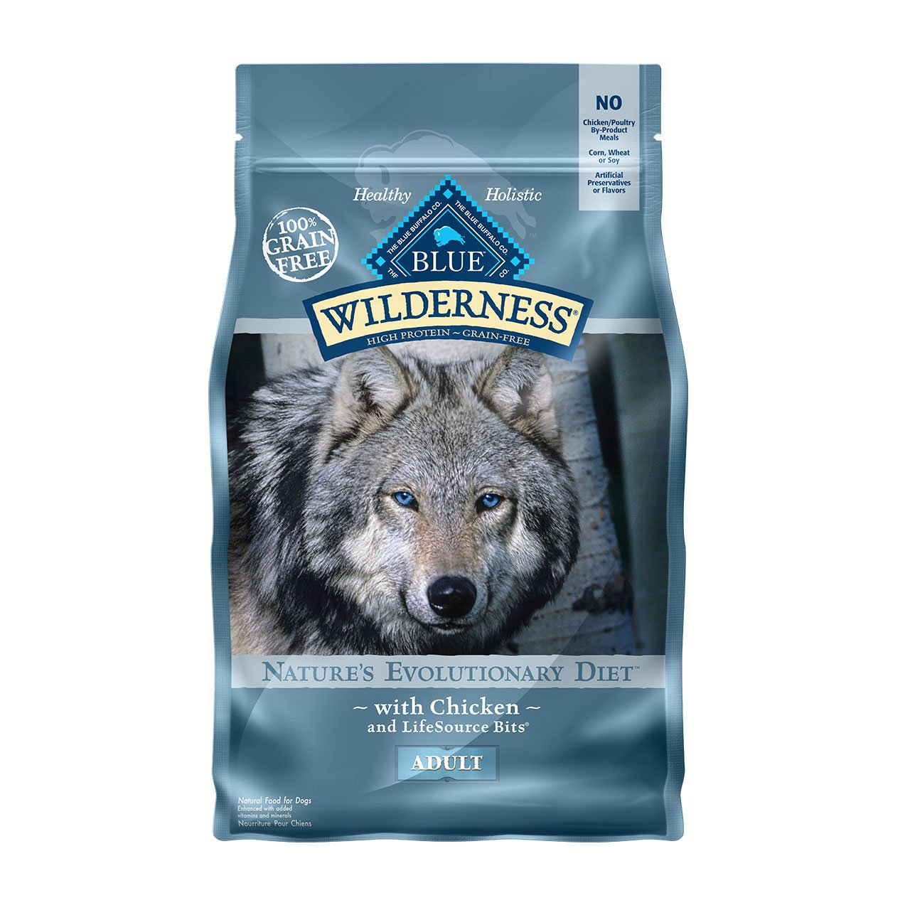 3.Blue Buffalo Wilderness High Protein Grain-Free, Natural Adult Dry Dog Food