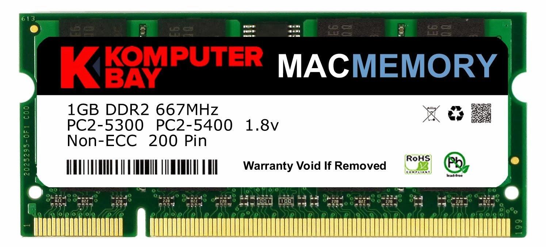 Komputerbay Macmemory 6gb Kit 4gb 2gb Modules Pc2 Ram Ddr2 1gb Pc 6400 Dan 5300 667mhz Sodimm For Apple Imac Macbook Pro Computers Accessories