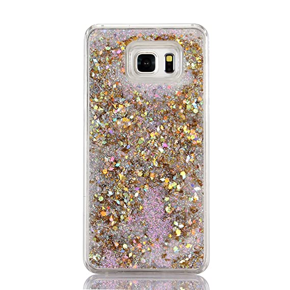 the latest 21b2f 4a31a Galaxy S6 Case, Liujie Cute Funny Glitter Quicksand Dynamic Transparent 3D  Flowing Star Hard PC Protection Phone Case for Samsung Galaxy S6(ZS 2#)