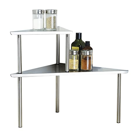 Merveilleux Cook N Home 2 Tier Stainless Steel Corner Storage Shelf Organizer, Triangle
