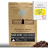 500 Grams Cafetiere Grind Brown Bottle Coffee Black House Blend Ground or Whole Beans | Strong Medium Roast Ground Coffee Blend Perfect for Espresso Coffee Cafetiere Filter or Moka Pot | 100% Arabica Beans Speciality Coffee | RFA | Fair Trade Organic
