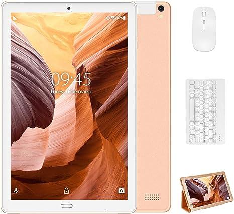 4G Tablet 10 Pulgadas YESTEL X2, 3GB+32GB, Android 8.1, Tableta con Mouse y Teclado, 4 Core, 8000mAh, 1280X800 HD IPS, Soporte WiFi/Dobles SIM, FM, Dorado: Amazon.es: Informática