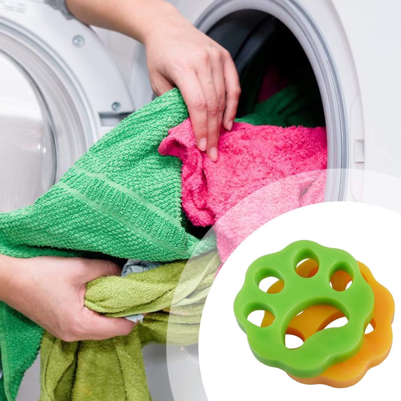 QBody para ropa de lavander/ía//ropa de cama reutilizable para lavadoras de pelo 2 unidades Bola removedora de pelo. bola de limpieza flotante Eliminador de pelo de mascotas para lavander/ía