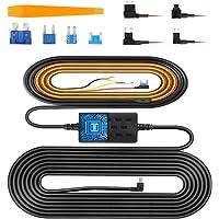 VanTop V9H Dash Cam Hardwire Kit, 11.5ft Mini USB Hard Wire Kit for Dashcam Converts 12V-24V to 5V/2.5A w/Fuse Kit and…
