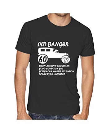 Old Banger T Shirt 60th Birthday Mens T Shirt Gift Present Funny