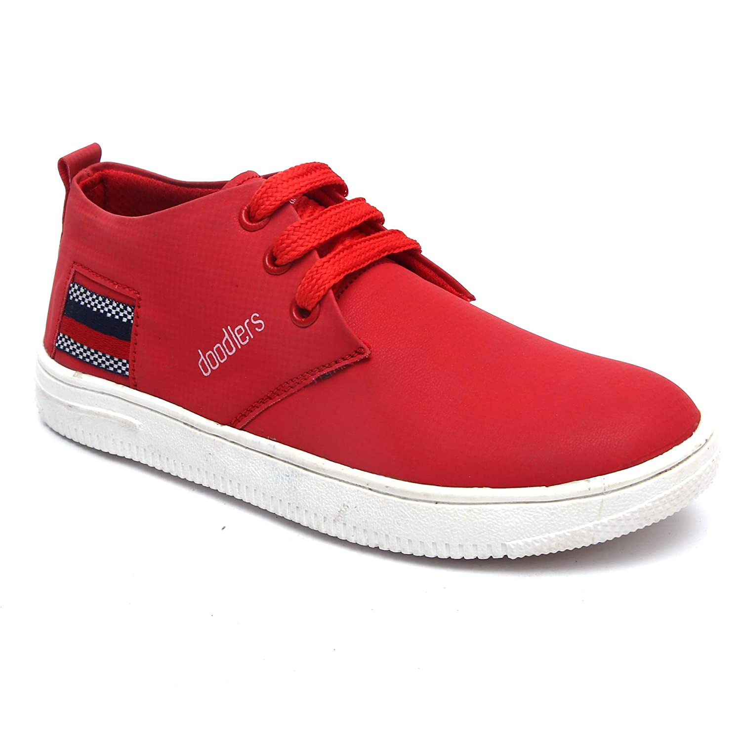 Buy Doodlers Red Synthetic Canvas Shoes
