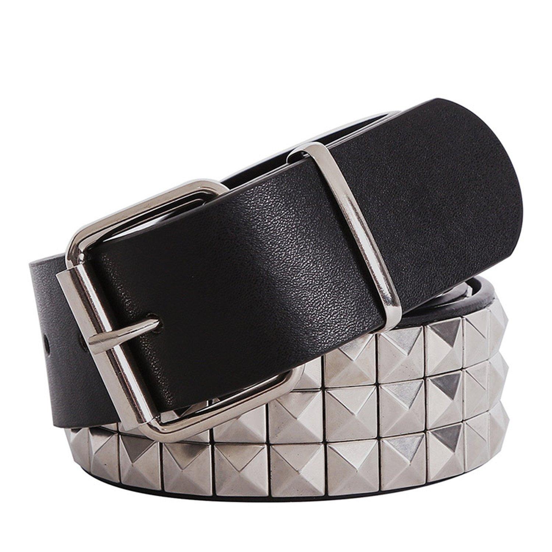 Susan1999 Black Fashion Rhinestone Rivet Belt Men/&WoMens Studded Belt With Pin Buckle