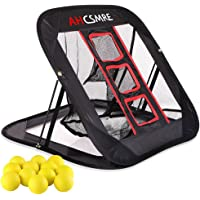 AHCSMRE Golf Chipping Net Pop Up Pitching Practice Target Short Game Master with Yellow Foam Practice Balls