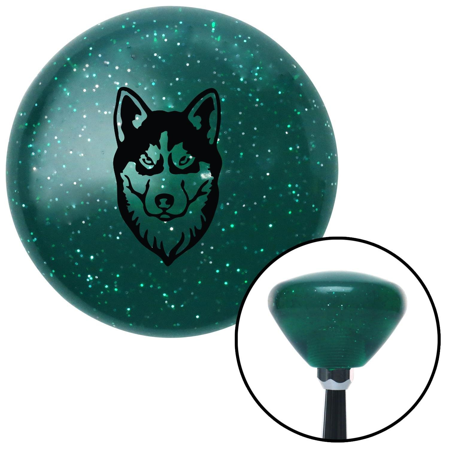 Black Husky American Shifter 207755 Green Retro Metal Flake Shift Knob with M16 x 1.5 Insert