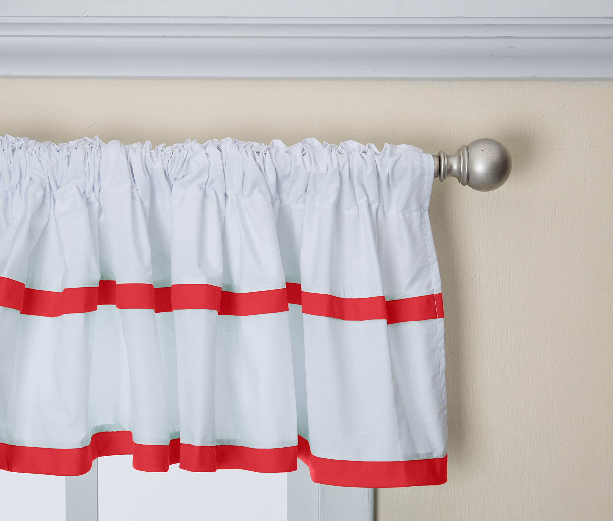 Baby Doll Medallion Window Valance, Red by Baby Doll