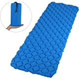 GWHOLE Large Inflatable Sleeping Pad Outdoor Compact Moistureproof Camping Mat Portable for Hiking Backpacking Hammock Trekking Travelling, 190 x 66 cm