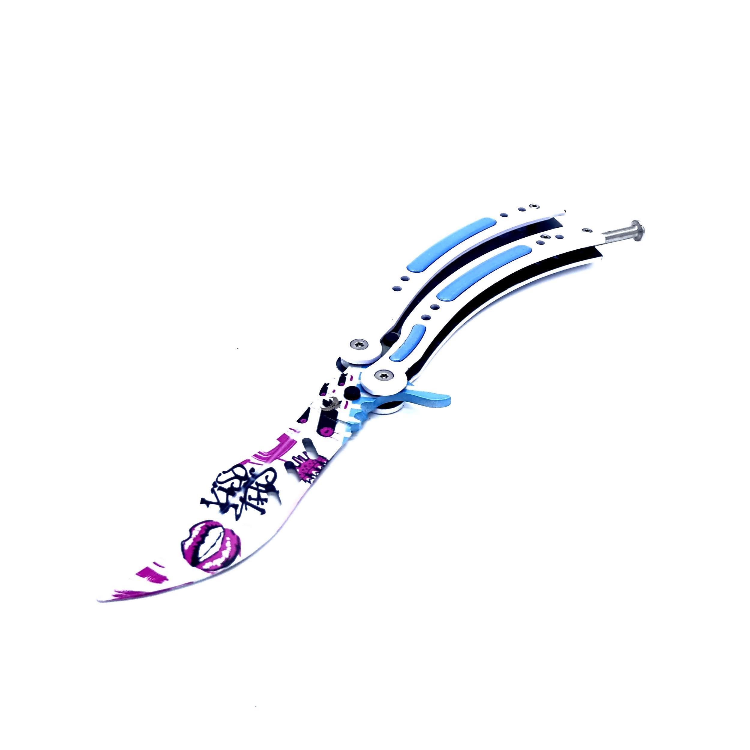EpicKnives CS GO Balisong Trainer Butterfly Trainer Practice Knife csgo Butterfly Knife - C0-10 (Dull Blade) V3