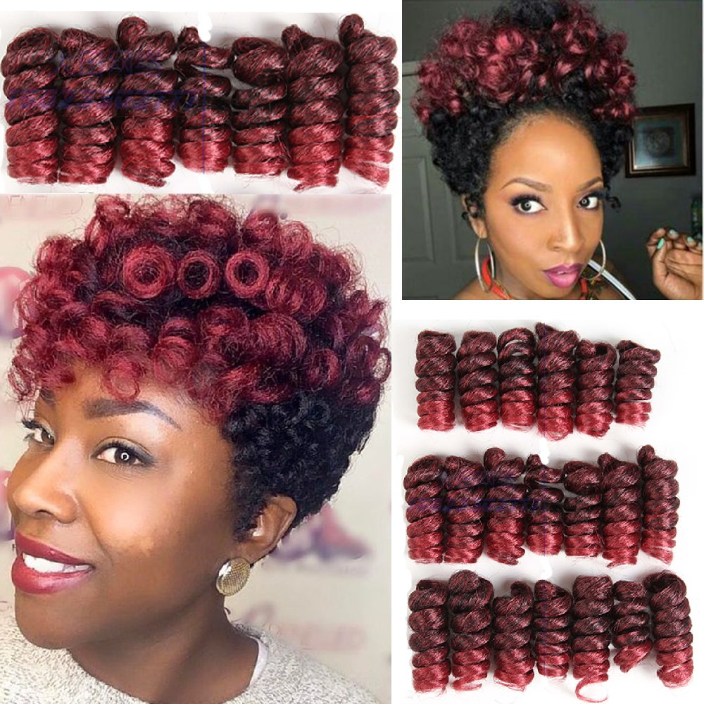 "Jamaican Hairstyles Black Women: Amazon.com : 8 Packs Deal!!! TONI CURL 6"" (1B Off Black"