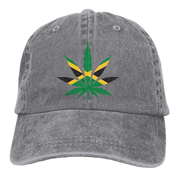 28c60cadef965 Marijuana Leaf with Jamaica Flag Truck Driver Hat Unisex Adjustable Baseball  Caps at Amazon Men s Clothing store